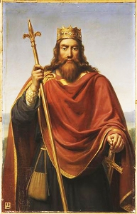 Clovis, King of the Franks by François-Louis Dejuinne