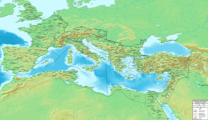 The Roman Empire c400AD