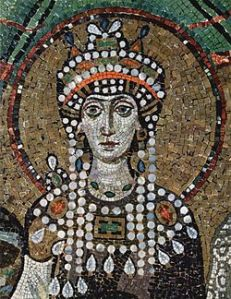 Mosaic of Theodora from the Basilica of San Vitale in Ravenna