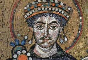 Mosaic of Justinian from the Basilica of San Vitale in Ravenna
