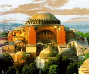 The Hagia Sophia as it might appear without Turkish additions