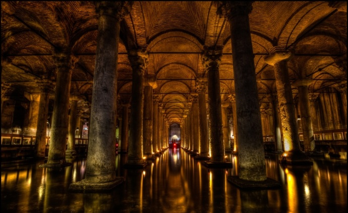 The Basilica Cistern today (photo from ramyad.net)