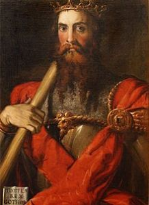 Portrait of Totila by Francesco Salviati (from Wikipedia)