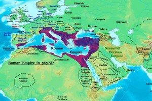 Byzantine Empire at its greatest extent, 565