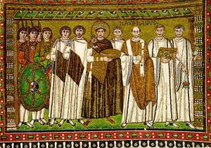 Church of San Vitale Mosaic panel - Justinian