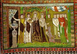 Church of San Vitale Mosaic panel - Theodora