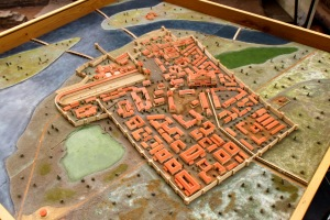 A model of the city of Sirmium. You can see its strategic importance as it sits over the two rivers (The image is from Wikipedia and the model is in the Visitors Center in Sremska Mitrovica).