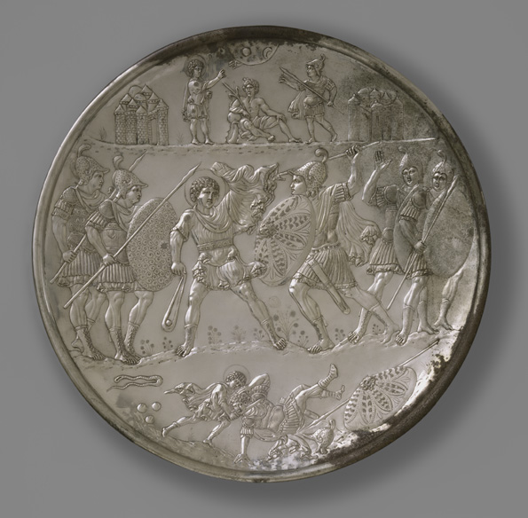 David and Goliath coin minted for Heraclius' victory (image from metmuseum.org)