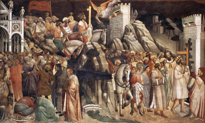 Heraclius entering Jerusalem with the True Cross (the Frescoes in the church of San Francesco in Arezzo)