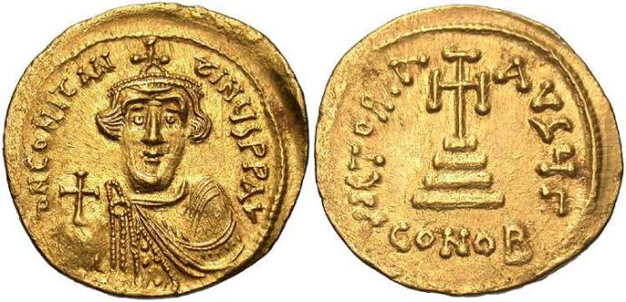 A solidus of young Constans II (from Beastcoins.com)
