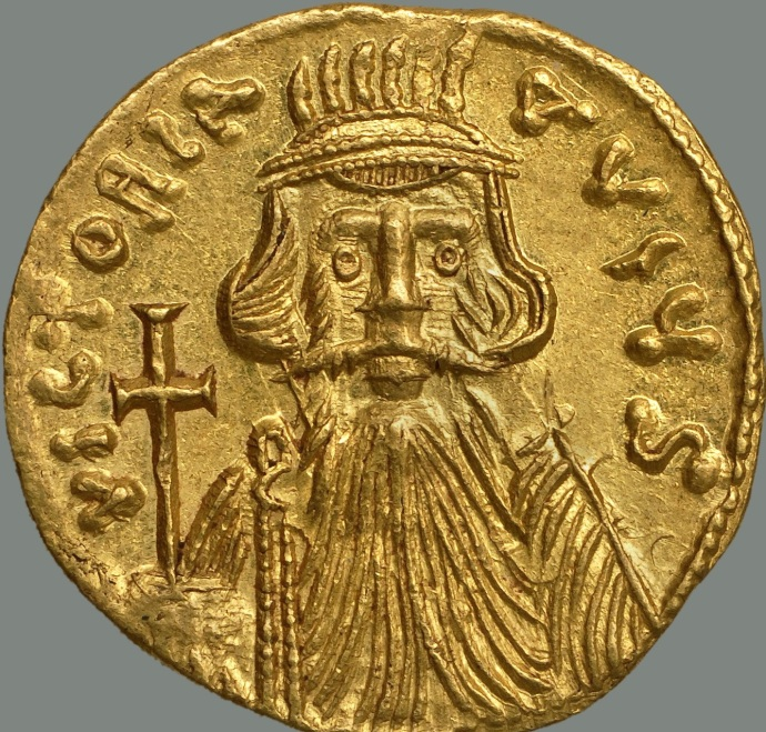 Solidus of Constans II (from Dumbarton Oaks coin collection)