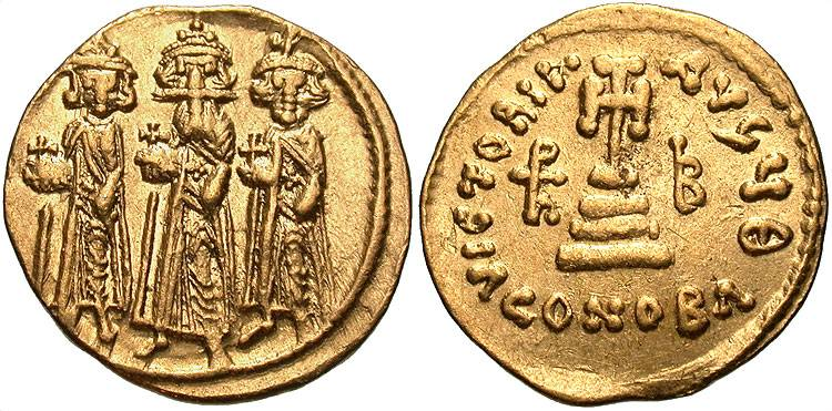 Online Discount Smart Gold Byzantine Solidus Of Heraclius Showing Three Emperors Byzantine (300-1400 Ad)