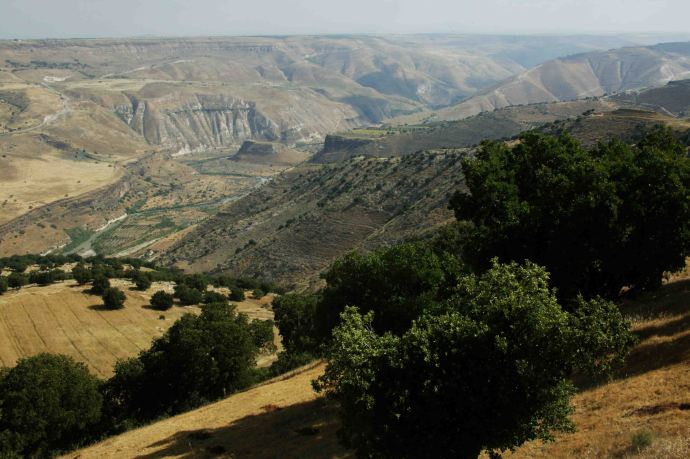 The Canyon of the River Yarmouk today (biblicalgeographic.com)