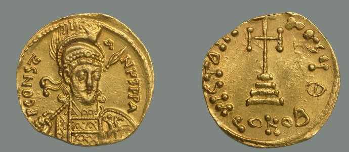 A solidus of Constantine IV from the Dumbarton Oaks collection