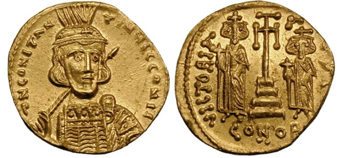 A solidus of Constantine IV from Wikimedia commons