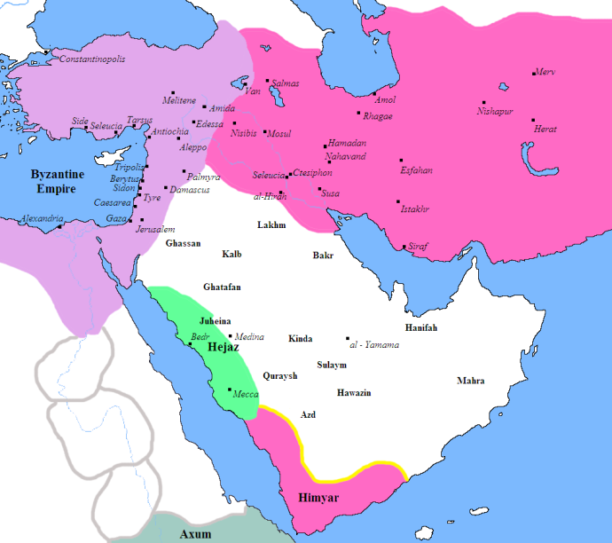 Arabia and the Fertile Crescent in 600 AD