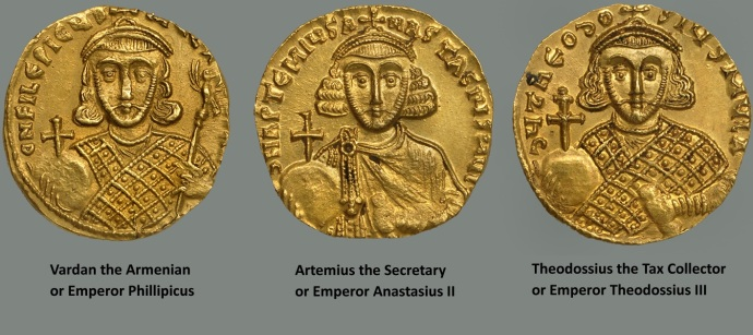 Emperors 4, 5 and 6 from the Dumbarton Oaks Coin Collection
