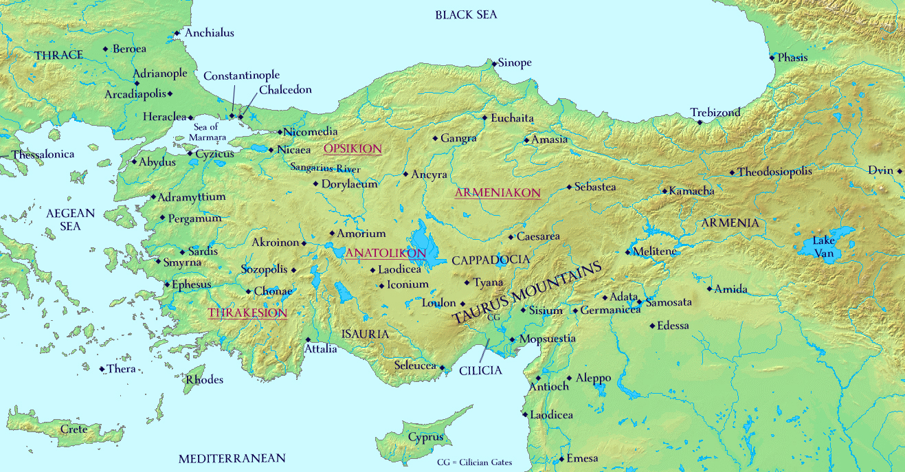 Anatolia Map World Map 07