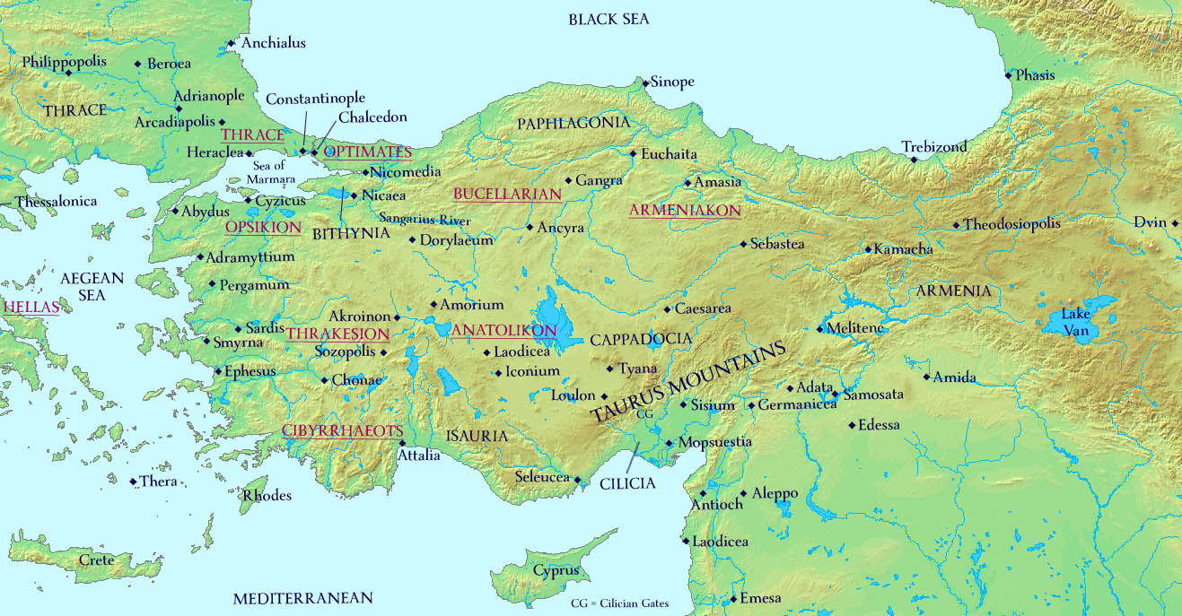 Maps the history of byzantium anatolia 780ad with new theme arrangements publicscrutiny Choice Image