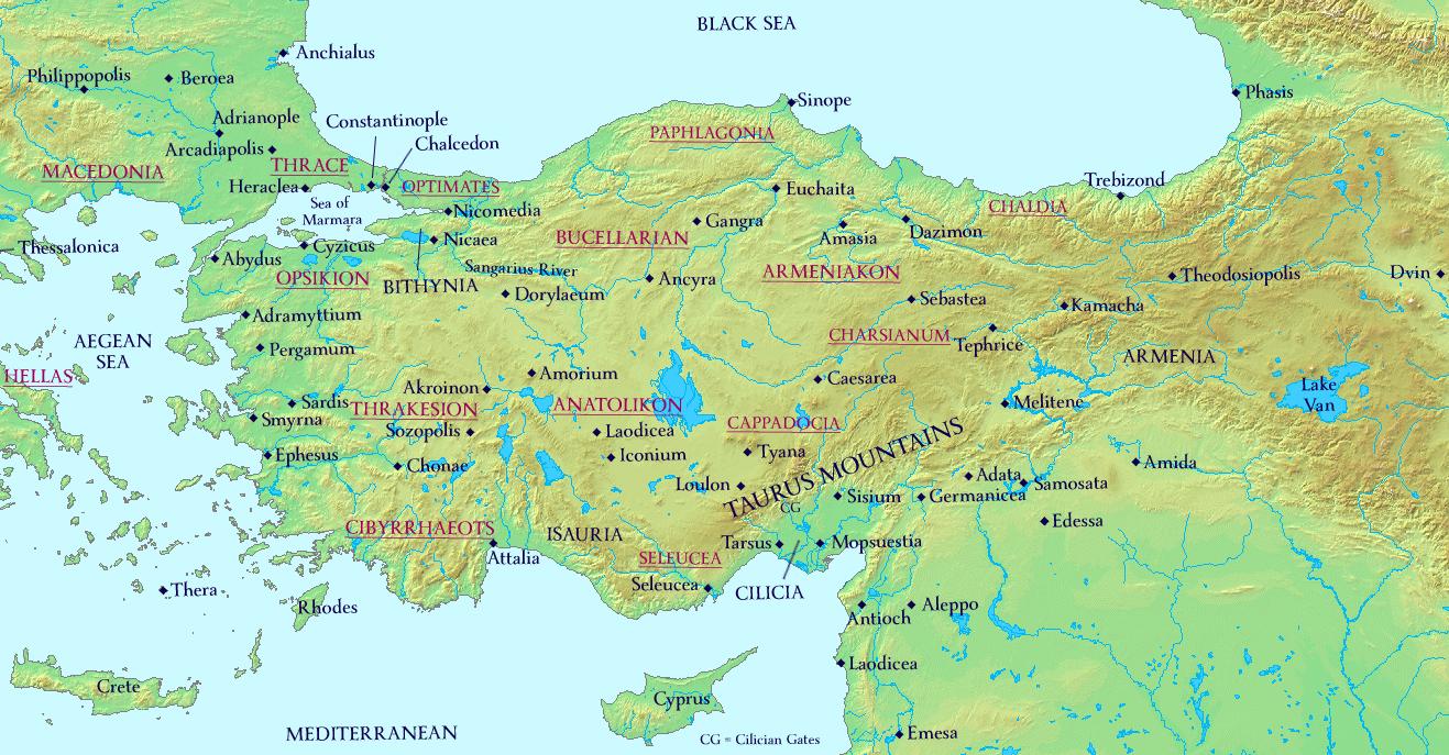 Maps | The History of Byzantium