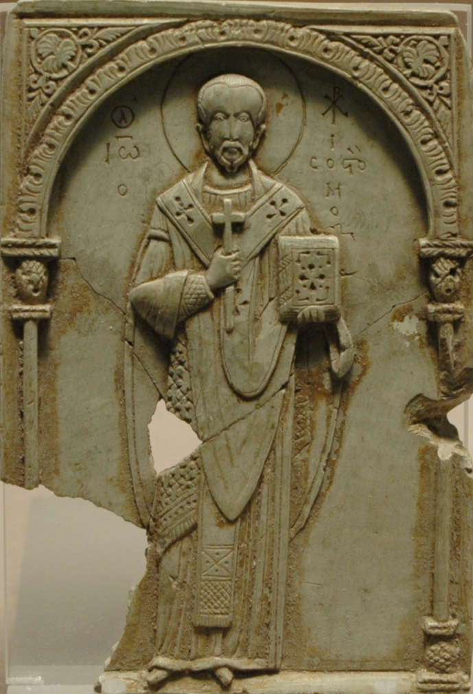 John from an 11th-century soapstone (now in the Louvre)