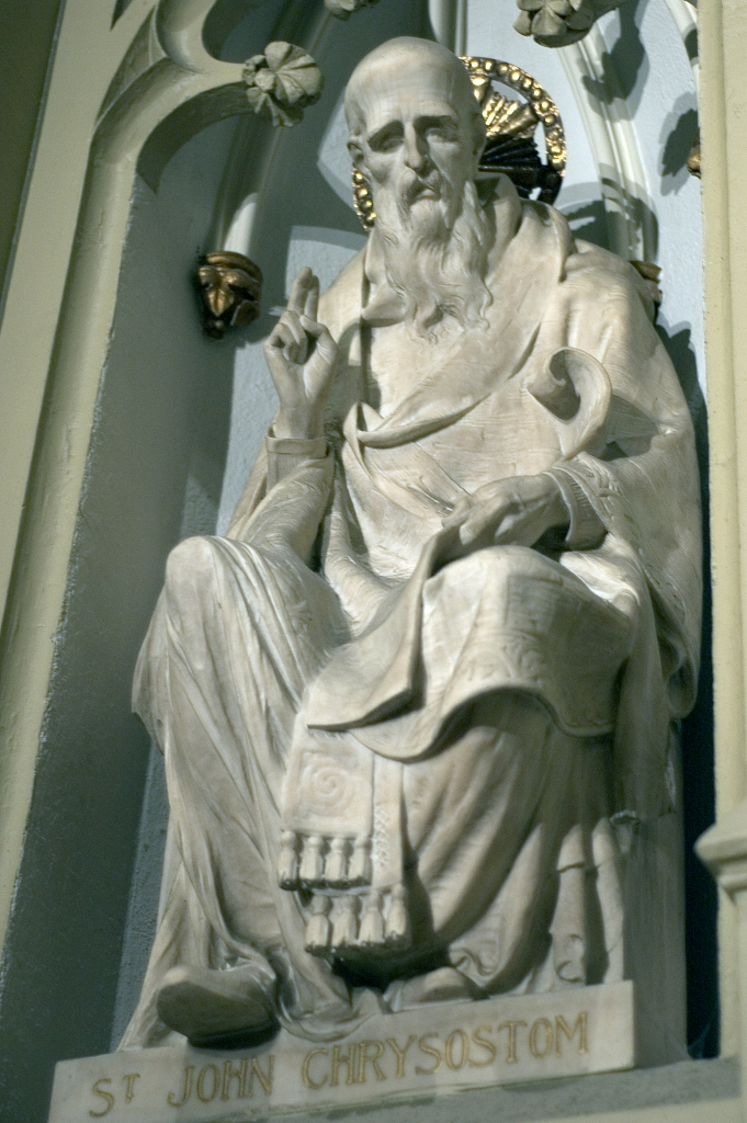 A sculpture of John in Saint Patrick's Cathedral, New York City