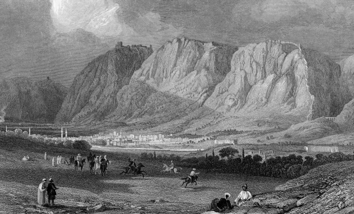 Engraving of Antioch by William Miller from a sketch by Byam Martin in 1866