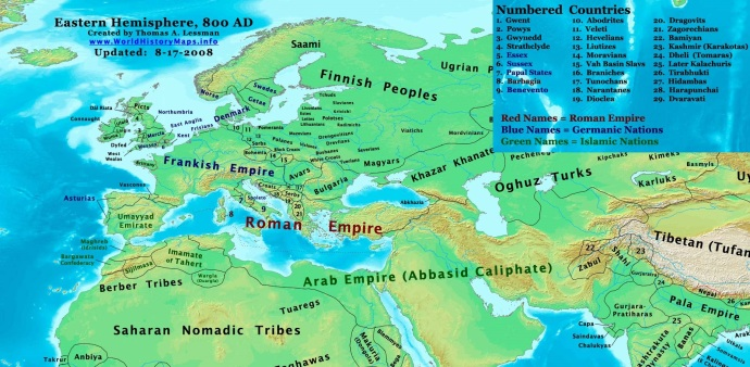 Europe and the Middle East 800AD (worldhistorymaps.info)