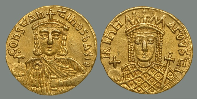 Solidus of Constantine VI and Irene (from Dumbarton Oaks collection)