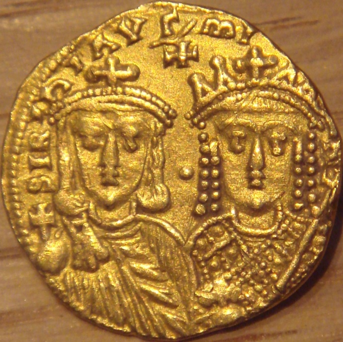 Solidus of Constantine VI and Irene (Wikipedia)