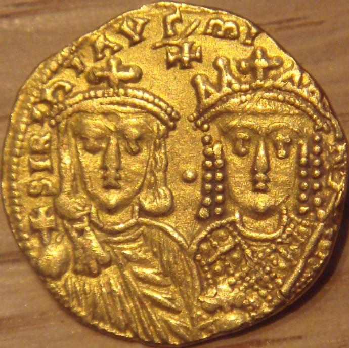 Solidus of Constantine VI and Irene (Wikipedia)