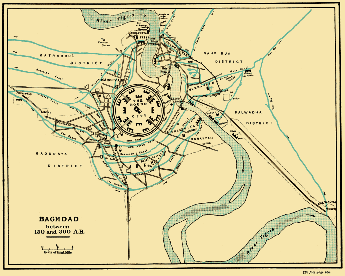 Baghdad in the 8th century (Wikipedia)