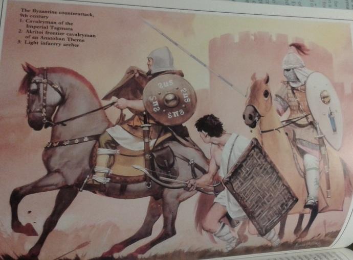 9th century Byzantine troops from Byzantium at War by John Haldon