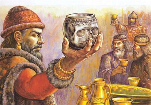 Krum drinks from Nicephorus' skull (from seanmunger.com)