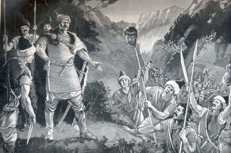 Krum receives Nicepheros' head (from worldhistoryplus.com)