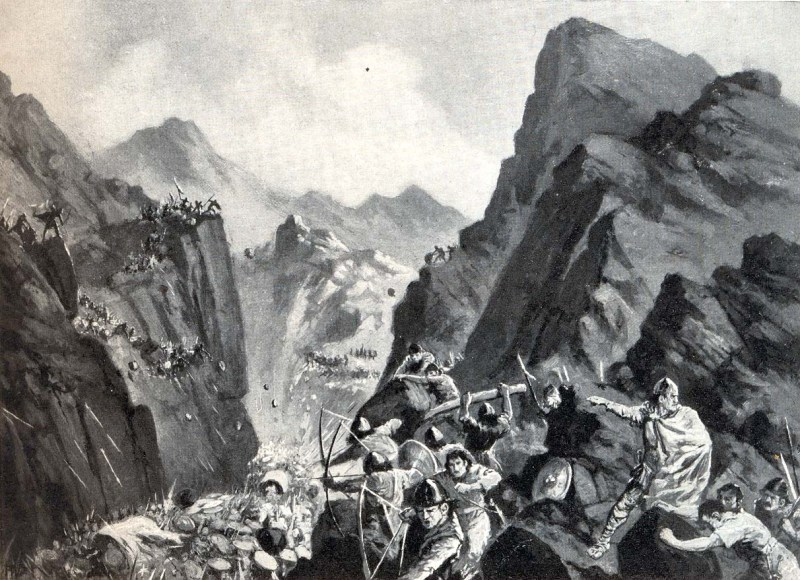 Krum traps the army (from worldhistoryplus.com)