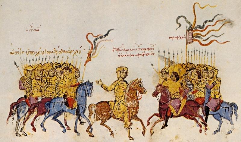 Thomas the Slav negotiates with the Arabs (from The Chronicle of John Scylitzes)