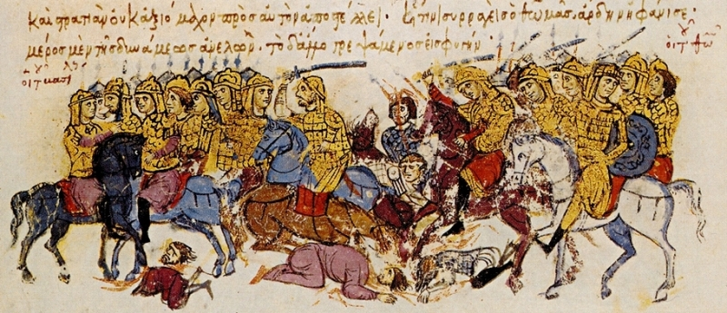 Thomas the Slav's troops in action (from The Chronicle of John Scylitzes)