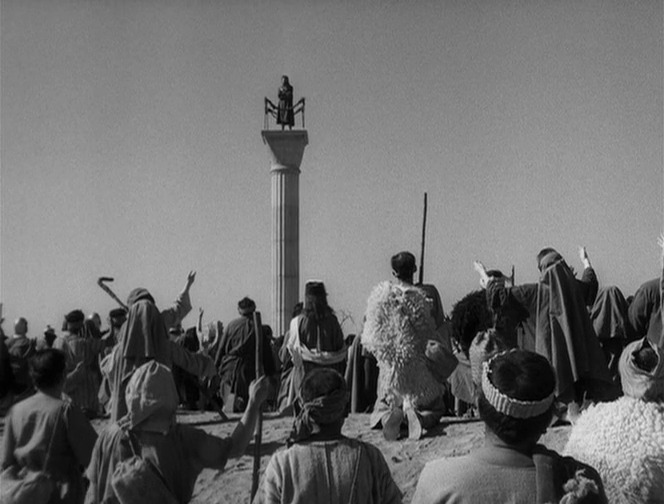 An image from the film Simon of the Desert (cca.org)