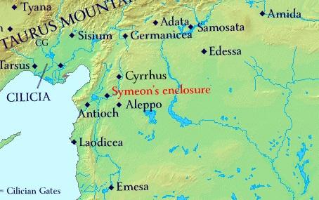 Symeon's enclosure in Syria