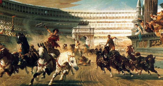 Chariot race in the Circus Maximus (turkeyfile.com)