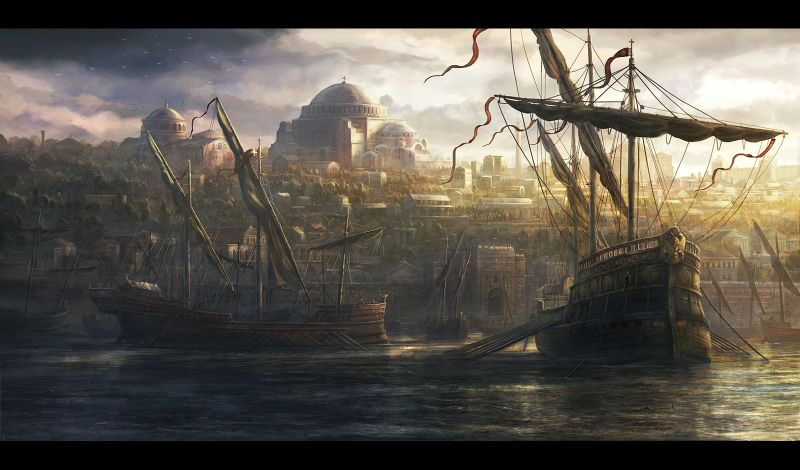 Constantinople: the core of Roman survival and revival (Pic by by RadoJavor at deviantart.com)