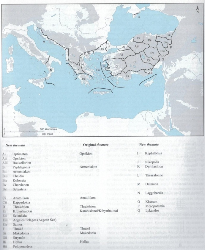 Byzantine Themes c900 from Palgrave Atlas of Byzantine History