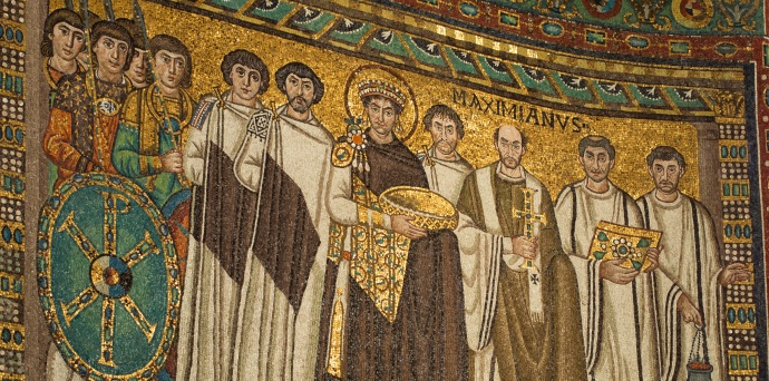As far as we know Procopius is not featured in the famous mosaic but it remains the obvious image to pair with his work