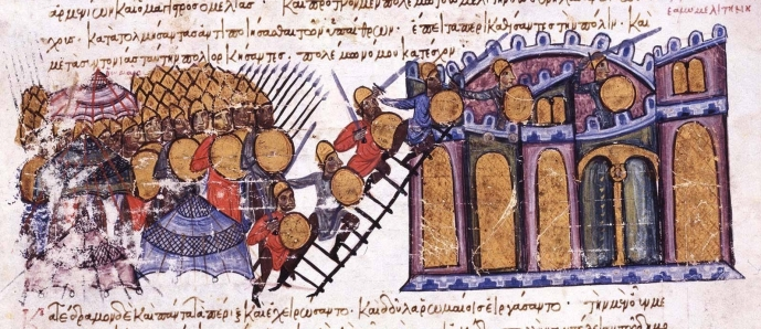 Capture of Melitene from the Madrid copy of the Chronicle of John Skylitzes
