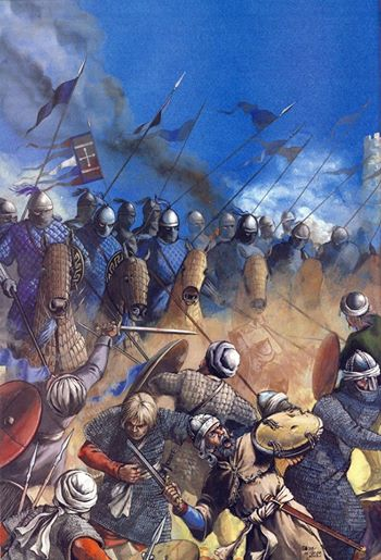 Byzantine cavalry charge outside the walls of Tarsus (from the Byzantine military history facebook group)