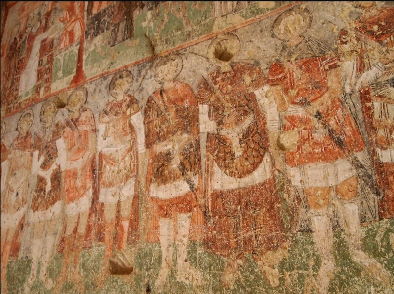 Close up of Romans in Çavuşin Church, Cappadocia (Flickr user ChihPing)