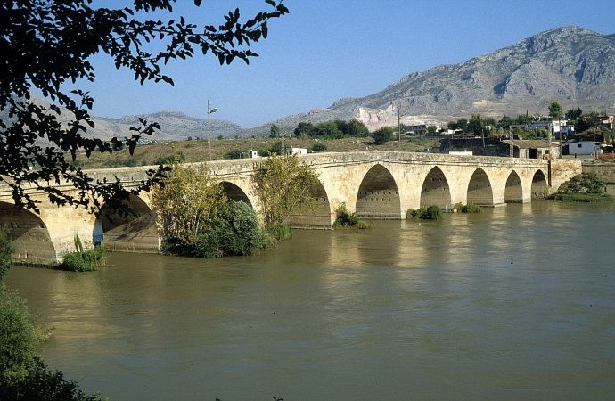 Roman bridge at Mopsuestia, originally built by Justinian (now Misis in Turkey)