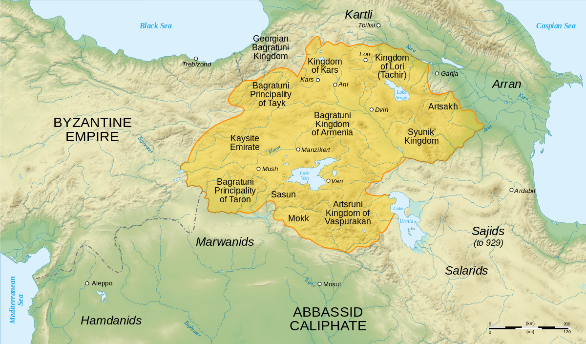 Maps The History Of Byzantium - Armenia physical map