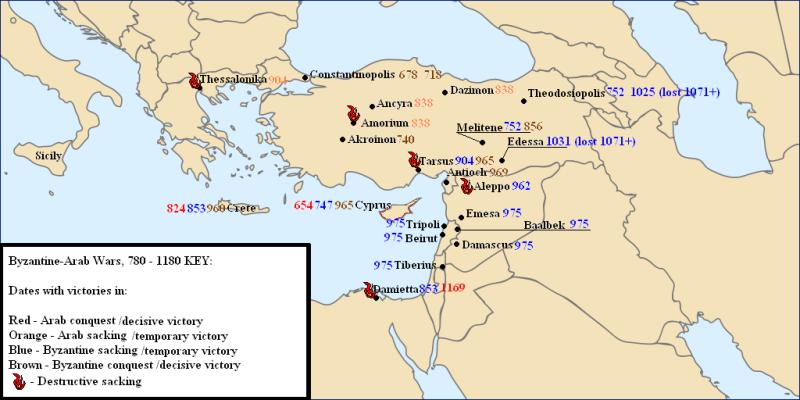 Byzantine-Arab Wars 780-1180